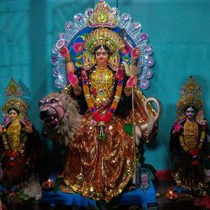 একাদশীতে বিসর্জন নয় বরং বোধন!দেবী দুর্গা হাজির মা ভান্ডানি রূপে